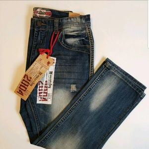 Monarchy Distress Whisker Destroyed Jeans 34/33